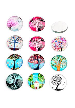 www.sayila.com - Mix glass flat backs/cabochons round with tree 18mm
