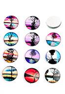 www.sayila.com - Mix glass flat backs/cabochons round with tree 18mm - D24224