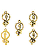 www.sayila.com - Metal pendants/charms snake 23,5x12,5mm - D24281