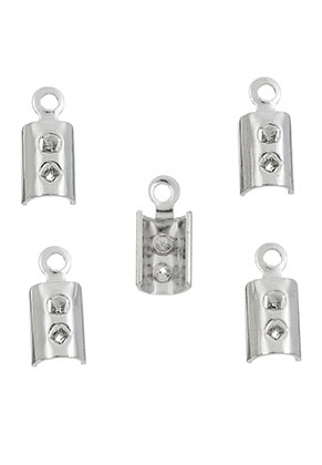 www.sayila-perlen.de - Metall Endklemmen für Lederband 9,5x4mm