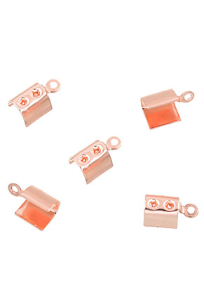 www.sayila.com - Metal fold over cord end clips for laces and leather 9,5x4mm
