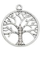 www.sayila.fr - Pendentif en métal arbre avec strass 42x36mm - D24307