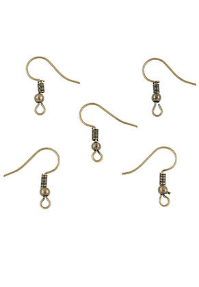 www.sayila.com - Metal French ear wires 20x18mm (20 pairs)
