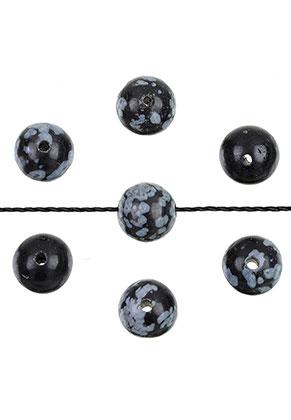 www.sayila.es - Abalorios de piedra natural Snowflake obsidian redondo ± 4mm