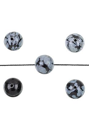 www.sayila.es - Abalorios de piedra natural Snowflake obsidian redondo 10mm