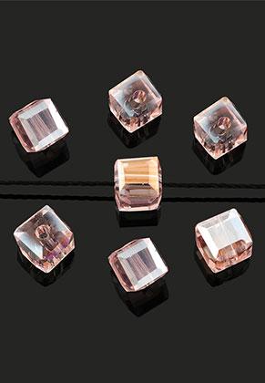 www.sayila.be - Glaskralen kristal kubus facet geslepen 5,5mm