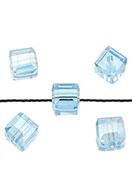 www.sayila.com - Glass beads crystal cube 10mm - D24378