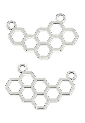 www.sayila.com - Metal pendant/connectors honeycomb 24x15mm