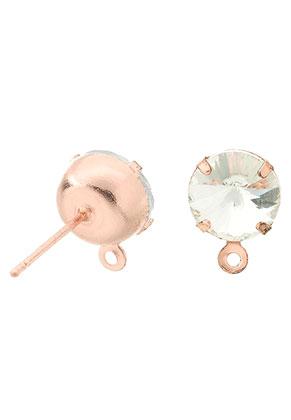 www.sayila.nl - Brass oorstekers met oogje en strass 17x9,5mm