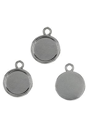 www.sayila.es - Colgantes de metal redondo 22x18mm con cuadro para 14mm piedra adhesiva