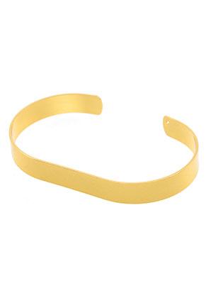 www.sayila-perlen.de - Brass Cuff Armband blank 19cm, 8,5mm breit