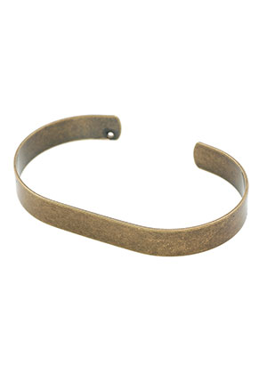 www.sayila.com - Brass cuff bracelet blank 19cm, 8,5mm wide
