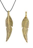 www.sayila.com - Metal pendants feather 46,5x11mm - D24593