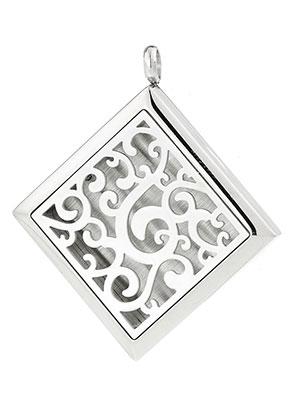 www.sayila.com - Stainless steel pendant/perfume locket DQ 48x42,5mm for 23mm felt disc