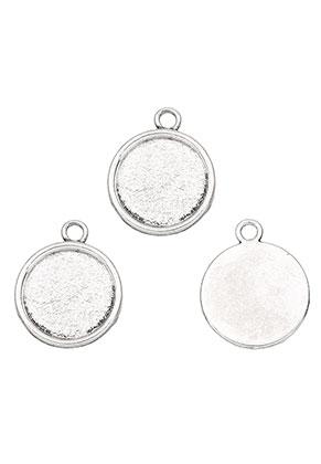 www.sayila.com - Metal pendants round 26x21,5mm with setting for 18mm flat back
