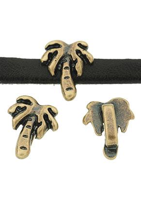 www.sayila.com - Metal slide-beads palm tree 12x10mm