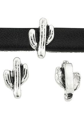www.sayila.com - Metal slide-beads cactus 10x6mm