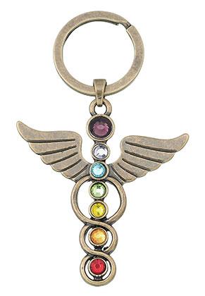 www.sayila.es - Llavero ángel Rainbow Chakra de metal 78x46mm