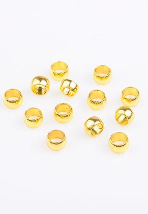 www.sayila.com - Brass crimp beads 4x2,5mm (± 60 pcs)