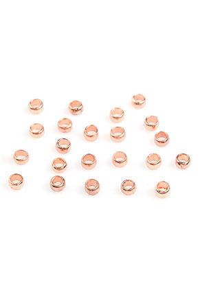 www.sayila-perlen.de - Brass Quetschperle 3x2mm (± 90 St.)