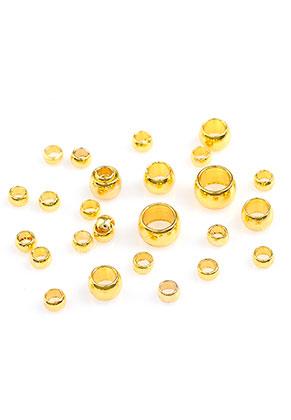 www.sayila.fr - Mélange de perles à écraser en brass 2-4x1,3-2,5mm (± 400 pcs)