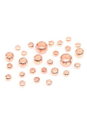 www.sayila.com - Mix brass crimp beads 2-4x1,3-2,5mm (± 400 pcs)
