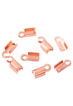 www.sayila.com - Metal fold over cord end clips for laces and leather 9x4mm (± 30 pcs.)