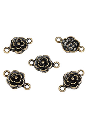 www.sayila.be - Metalen tussenzetsels roosje 20x12mm