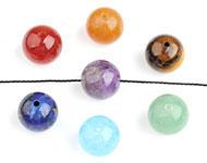 3f247465e344 www.sayila.es - Mezcla de abalorios de piedra natural redondo 6mm - D24934