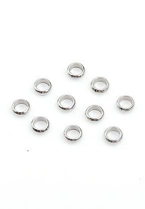 www.sayila-perlen.de - Edelstahl Perlen Rondelle 4x1,5mm