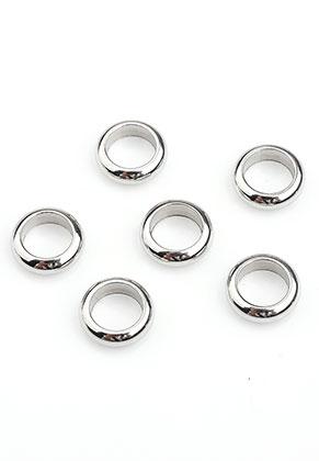 www.sayila.es - Estilo agujero-grande abalorios rondelle de acero inoxidable 8x2,5mm