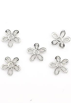 www.sayila.es - Tapas de metal flor 12x2,5mm