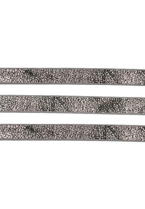 www.sayila.es - Cinta de cuero artificial con brillo metálico 10mm, 2mm grueso