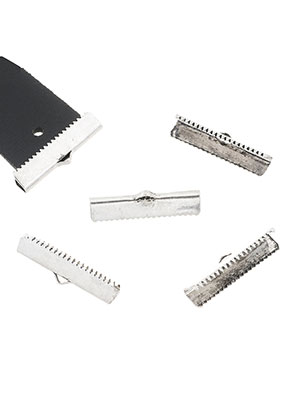 www.sayila.com - Metal end clips for laces and ribbon 30x8mm