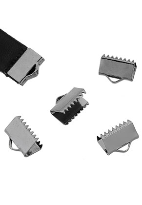 www.sayila.com - Metal end clips for laces and ribbon 10x8mm