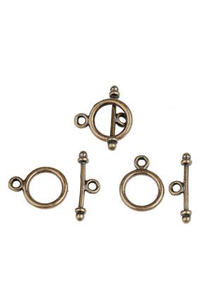 www.sayila-perlen.de - Metall Knebelverschlüsse 15x5mm, 12x9mm