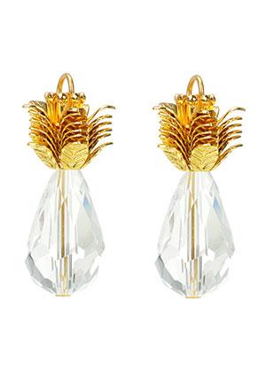 www.sayila.com - Metal and glass pendants pineapple 31x29mm
