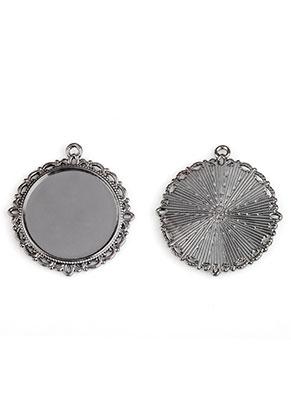 www.sayila.fr - Pendentif en métal circulaire 37x34mm avec cadre pour 25mm cabochon