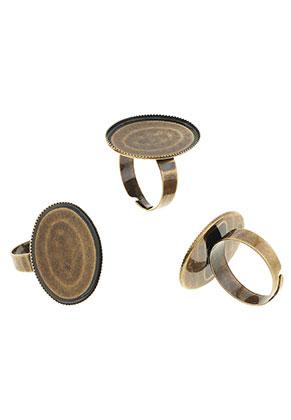 www.sayila.com - Metal rings >= Ø 18mm with setting for 25x18mm flatback