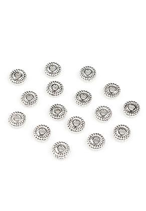 www.sayila.nl - Metalen kralen rondel 5x1,5mm