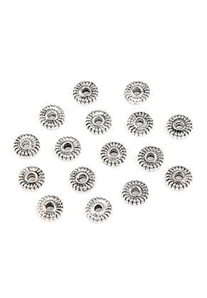 www.sayila-perlen.de - Metall Perlen Rondelle 5x1,5mm