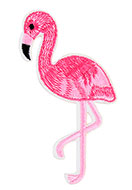 www.sayila.com - Textile patch flamingo 105x55mm - D25303
