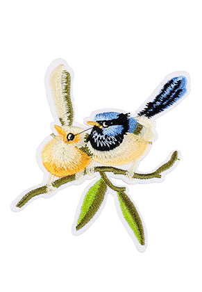 www.sayila.com - Textile patch birds 110x105mm