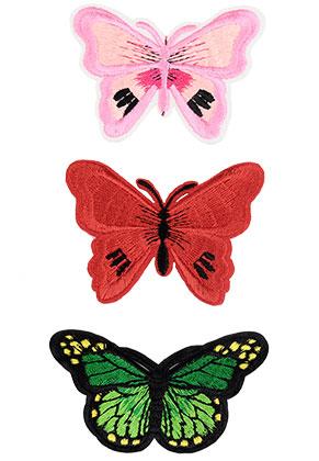 www.sayila.nl - Mix stoffen patches vlinder 68-75x47-53mm