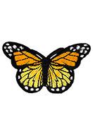 www.sayila.co.uk - Textile patch butterfly 75x47mm - D25358