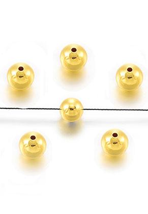 www.sayila-perlen.de - Brass Perlen rund 8mm