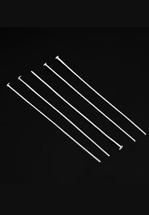 www.sayila.es - Bastones cabeza de alfiler de metal 80mm (0,8mm de espesor) (± 25 pzs.)