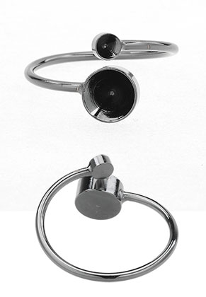 www.sayila.com - Metal ring Ø 18mm with settings for 7mm and 3mm pointed backs