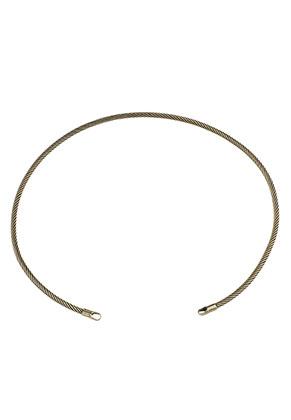 www.sayila.be - Metalen onderdeel voor het maken van een halsketting/spang 32cm, 3,5mm dik