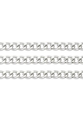 www.sayila-perlen.de - Metall Kette mit 6x4mm Glieder (100cm)